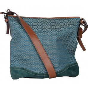 Coach Blue Patterned Sling Bag