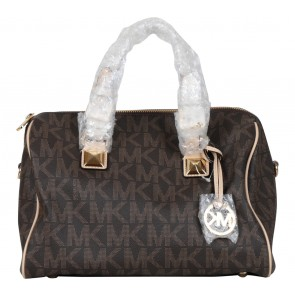 Michael Kors Brown Patterned Handbag