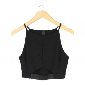 Factorie Black Cropped Sleeveless