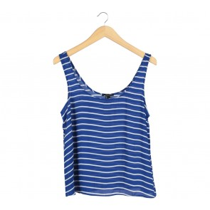Forever 21 Blue And White Striped Sleeveless