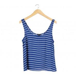 Forever 21 Blue And White Striped Sleeveless