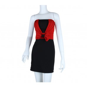 J.REP Black And Red Tube Mini Dress