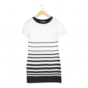 New Look White And Black Striped Mini Dress