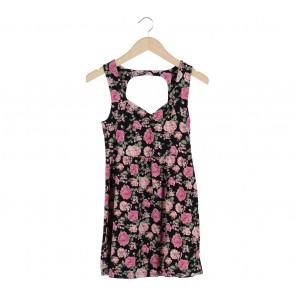 Forever 21 Black Rose Sleeveless Mini Dress