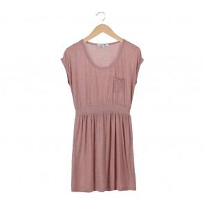 Forever 21 Brown Waist Rubber Mini Dress