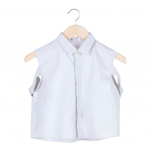 Komma Grey Sleeveless Shirt