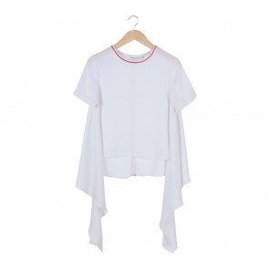White Collar Concept White Asymmetric Blouse
