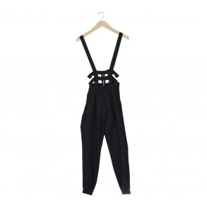 Picnic Black Dungaree Jumpsuit