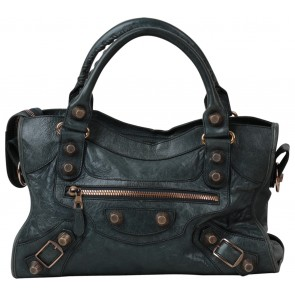 Balenciaga Dark Green Satchel