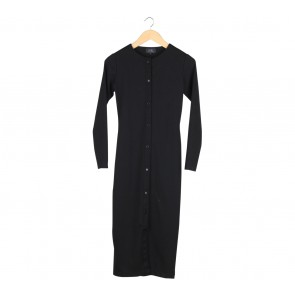 Asky Febrianti Black Long Cardigan