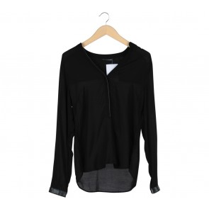 Zara Black Long Sleeve Blouse
