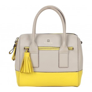Kate Spade Beige And Yellow Block Color Handbag