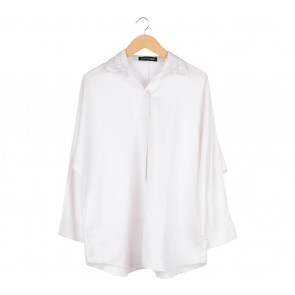 Cotton Ink Off White Oversized Shirt