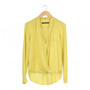 Zara Yellow Wrap Shirt