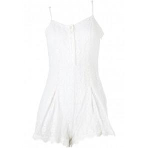 Kimchi & Blue White Lace Jumpsuit
