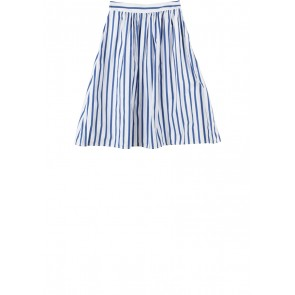 Zara Blue And White Striped Skirt