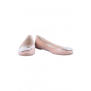 Nine West Cream Flats Shoes