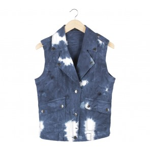 Forever 21 Blue And White Vest