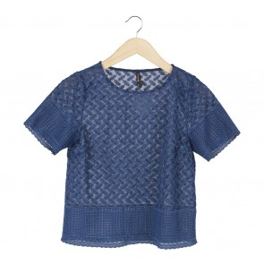 Stradivarius Blue Blouse