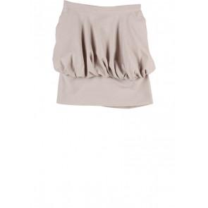 Geulis Cream Striped Skirt