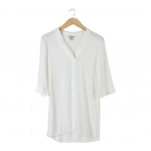 H&M White Slit Blouse