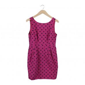 Red Herring Pink And Black Polka Dot Sleeveless Mini Dress