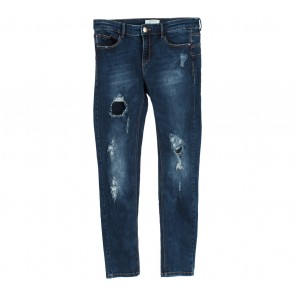 Stradivarius Dark Blue Ripped Pants