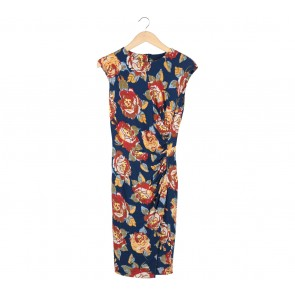 Mango Multi Colour Floral Midi Dress
