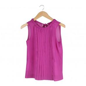 Zara Purple Sleeveless Blouse