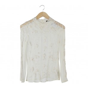 Zara Cream Lace Blouse