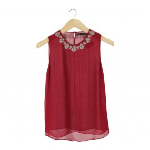 Zara Red Sleeveless