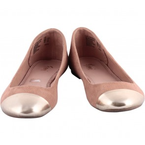 Fioni Brown And Gold Flats