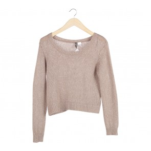 Divided Brown Knit Sweater