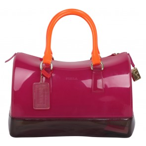 Furla Pink And Dark Purple Candy Bag Handbag