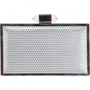 Miss Selfridge Silver Boxy Clutch