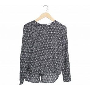 H&M Black And White Patterned Blouse