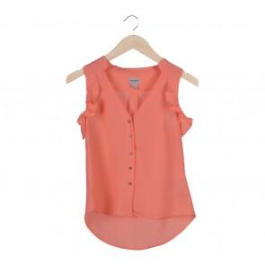 H&M Peach Sleeveless Blouse