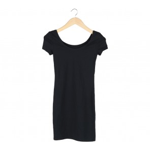 Divided Black Mini Dress