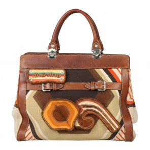 Miu Miu Brown Patterneo Handbag
