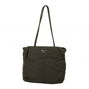 Prada Dark Green Tote Bag