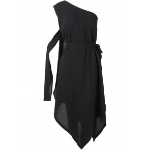 ATS The Label Black One Shoulder Asymmetric Mini Dress