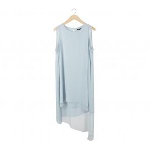BCBG Maxazria Blue Asymmetric Mini Dress