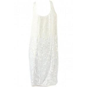 Club Monaco Cream Sleeveless Sequin Mini Dress