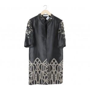Denny Wirawan Black Beaded Outerwear