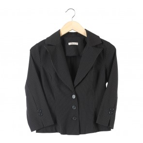 Forever 21 Black And White Striped Blazer
