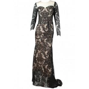 Miss Keraton Black Lace Long Dress
