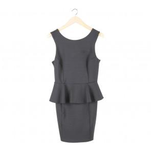 Topshop Dark Blue Peplum Mini Dress