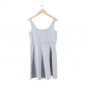 UNIQLO Blue And White Striped Sleeveless Mini Dress