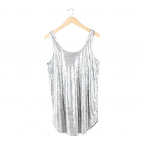 Zara Silver Sequin Mini Dress