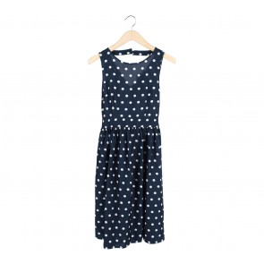 Dorothy Perkins Dark Blue Polka Dot Midi Dress